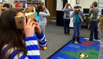 VR op school